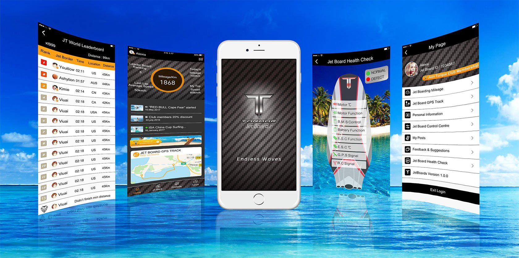 Torque Jetboard app